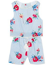 Rare Editions Baby Girls Open Back Popover Romper