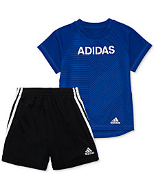 adidas Baby Boys 2-Pc. T-Shirt & Shorts Set