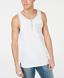 American Rag Men's Henley Pocket Tank, Created for Macy's