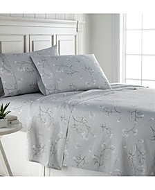 "Forget Me Not 22"" Extra deep, Pocket Cotton Sheet Set, California King"