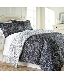 Southshore Fine Linens Winter Brush Reversible Down Alt Comforter and Sham Set, Full/Queen