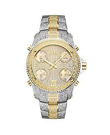 Men's Jet Setter Diamond (2 ct.t.w.) Stainless Steel Watch