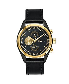 JBW Men's Woodall Diamond (1/20 ct.t.w.) Black Ion-Plated Stainless Steel Watch