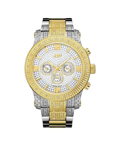 Jbw Men's Lynx Diamond (3/4 ct.t.w.) Stainless Steel Watch