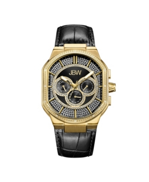 Men's Orion Diamond (1/8 ct.t.w.) 18k Gold Plated Stainless Steel Watch