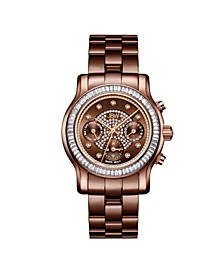 Women's Laurel Diamond (1/10 ct.t.w.) Brown Ion-Plated Stainless Steel Watch