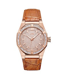 JBW Men's Apollo Diamond (1/10 ct.t.w.) 18K Rose Gold Plated Stainless Steel Watch