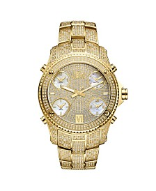 JBW Men's Limited Edition Jet Setter Diamond 18k Gold Plated Stainless Steel Watch