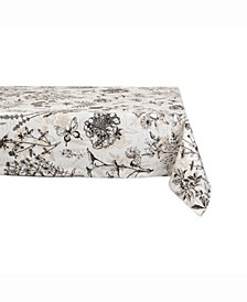"Botanical Print Table cloth 60"" X 104"""