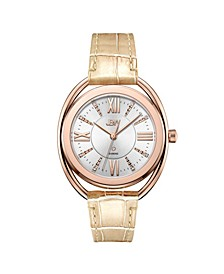 Women's Gigi 18K Rose Gold Plated Stainless Steel Diamond Watch