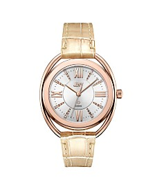 JBW Women's Gigi 18K Rose Gold Plated Stainless Steel Diamond Watch