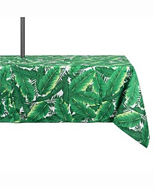 "Banana Leaf Outdoor Table cloth with Zipper 60"" X 120"""