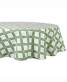 "Bamboo Lattice Print Table cloth 70"" Round"