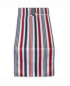 "Patriotic Stripe Outdoor Table Runner with Zipper 14"" X 72"""