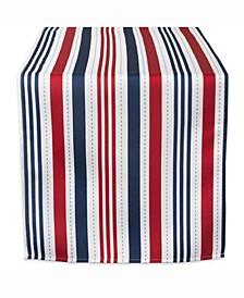"Patriotic Stripe Outdoor Table Runner 14"" X 72"""