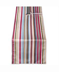 "Summer Stripe Outdoor Table Runner with Zipper 14"" X 72"""