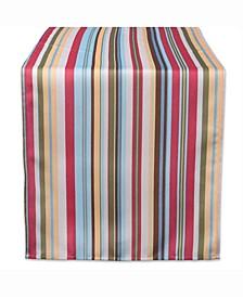 "Summer Stripe Outdoor Table Runner 14"" X 72"""