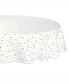 "Multi Polka Dots Print Table cloth 70"" Round"