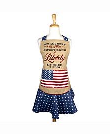 Sweet Liberty Ruffle Apron
