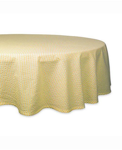 "Design Import Seersucker Table cloth 70"" Round"