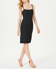 Vince Camuto Envelope-Neck Bodycon Dress