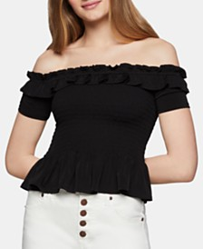 BCBGeneration Smocked Off-The-Shoulder Top