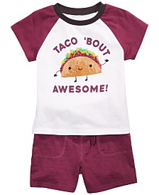 First Impressions Baby Boys Taco T-shirt & Jogger Shorts, Created for Macy's