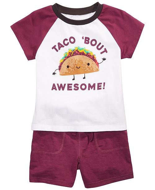 First Impressions Toddler Boys Taco T-Shirt & Jogger Shorts, Created for Macy's