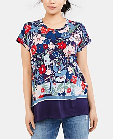 Motherhood Maternity Floral-Print Top