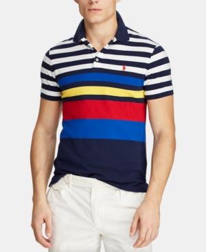de2fb8a4a Polo Ralph Lauren Men's Classic-Fit Mesh Polo Shirt In Newport Navy Multi