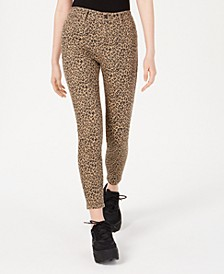 Juniors' Printed High-Rise Skinny Ankle Jeans