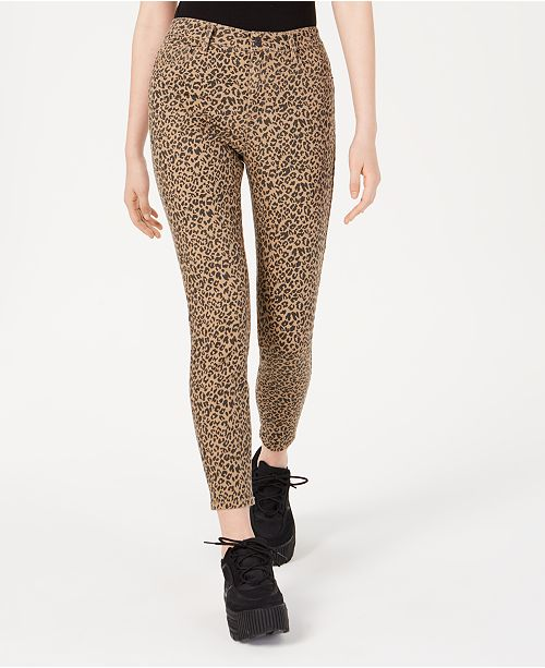 Vanilla Star Juniors' Printed High-Rise Skinny Ankle Jeans