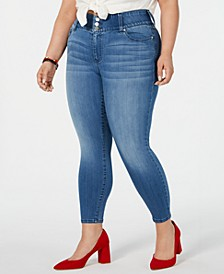 Plus Size  Mid-Rise Cropped Skinny Jeans
