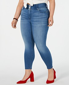 Celebrity Pink Plus Size  Mid-Rise Cropped Skinny Jeans