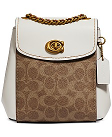 COACH Signature Parker Convertible Mini Backpack