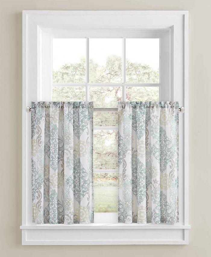"J Queen New York - Galileo Shower Curtain 45"" Pair Blush"