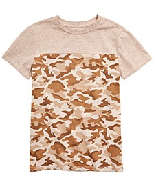 Big Boys Colorblocked Camouflage T-Shirt, Created for Macy's
