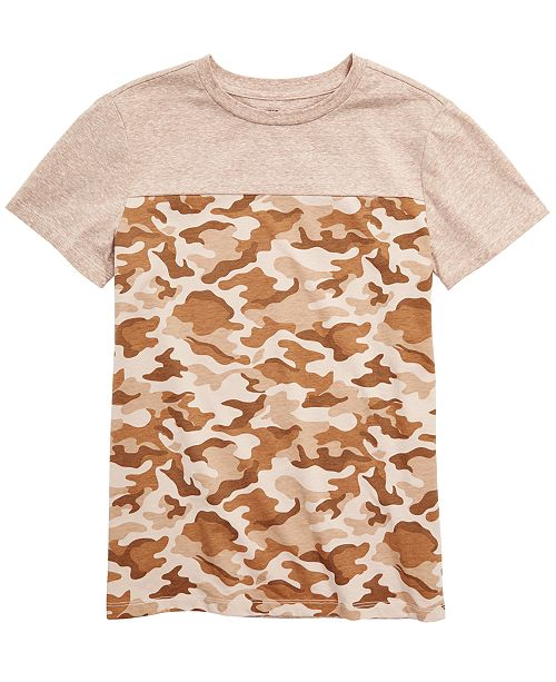 Epic Threads Big Boys Colorblocked Camouflage T-Shirt, Created for Macy's
