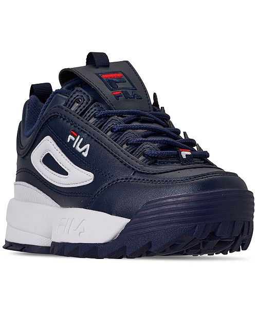 a250d29cff63 ... Fila Boys  Disruptor II Premium Casual Athletic Sneakers from Finish ...