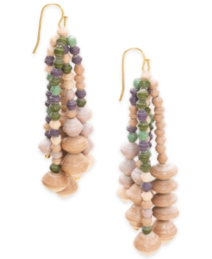 Image of Thirty One Bits Cascading Drop Earrings from The Workshop at Macy's