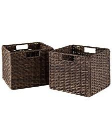 Granville Foldable 2-Pc Small Corn Husk Baskets