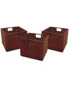 Winsome Leo Set of 3 Wired Baskets, Small