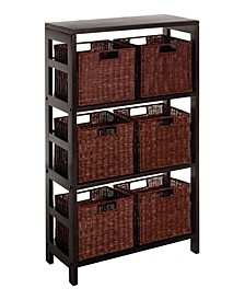 Leo 7Pc Shelf and Baskets, One Shelf, 6 Small Baskets, 3 Cartons