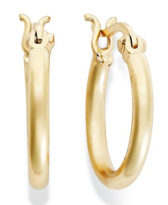 Image of Giani Bernini 18k Gold over Sterling Silver Hoop Earrings, 5/8""