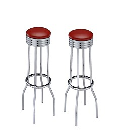 Lexington Round Base Bar Stools (Set of 2)