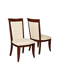 Baker Upholstered Side Chairs with Flared Feet (Set of 2)