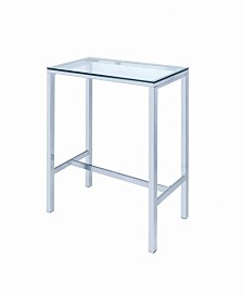 Augustas Bar Table with Glass Top
