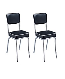 Aabid Retro Side Chairs with Cushion (Set of 2)