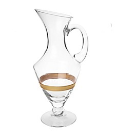 Pitcher with 14K Gold Striped Design