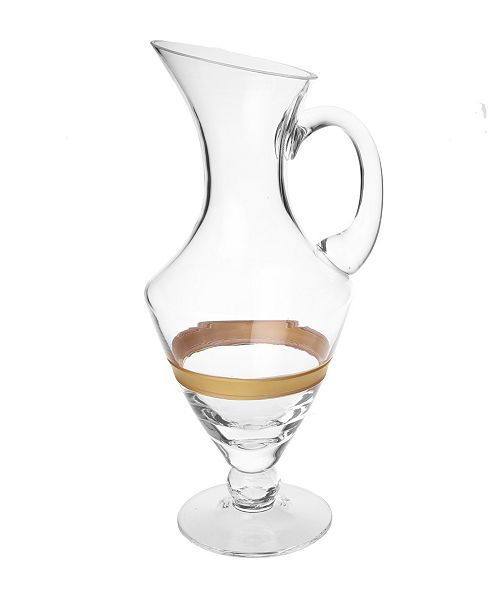 Classic Touch Pitcher with 14K Gold Striped Design
